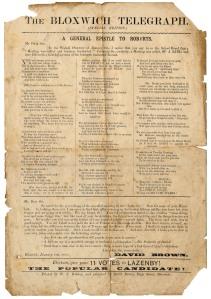 The Bloxwich Telegraph, 21st January 1886