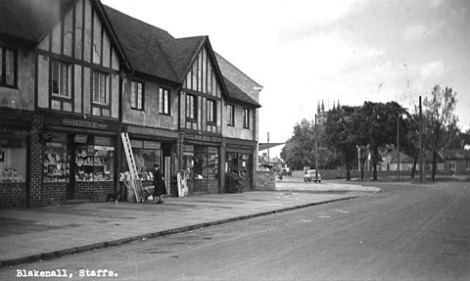 Shops at Blakenall Heath, about 1950