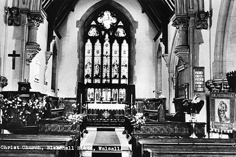 Interior of Christ Church, Blakenall Heath, 1950s (WLHC)