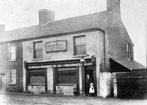 The old Kings Head, Blakenall Heath, 1920s (Colin Heeley)