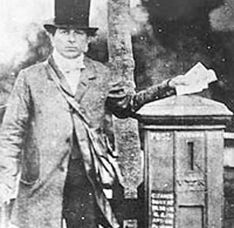 A Victorian Postman.