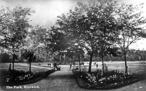 Bloxwich Park, formerly the village green, showing the Bandstand, c1916