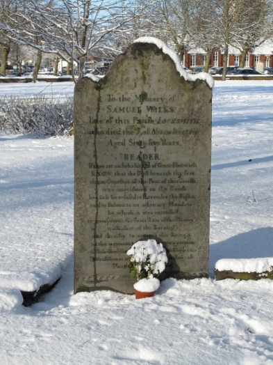 Grave of Bloxwich Rebel Samuel Wilks, 6 January 2010
