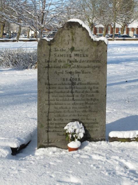 Grave of Bloxwich Rebel Samuel Wilks, 6 January 2010