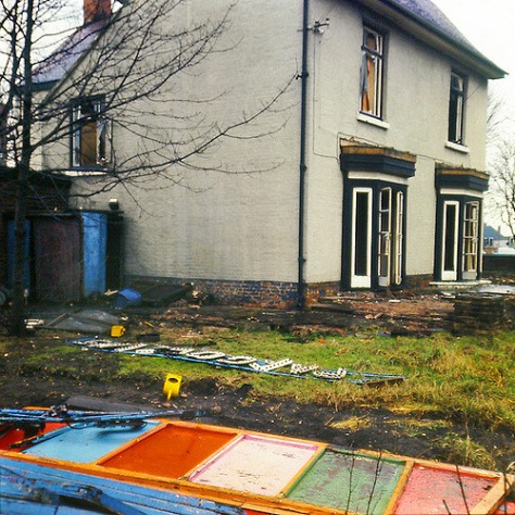 Lime Tree House, former Pat Collins' home and offices, Bloxwich, 1978 (courtesy Peter Barker)