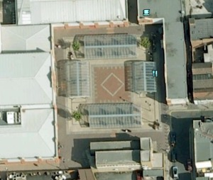 Bloxwich Market Square from space (courtesy Google Earth)
