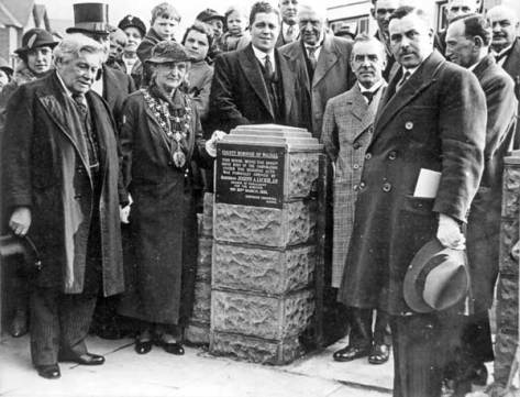 Opening of 5,000th Council House in Walstead Rd West by Joseph Leckie, 1935 (WHC)
