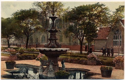 Promenade Gardens and Fountain, Bloxwich, late 1920s (WLHC)
