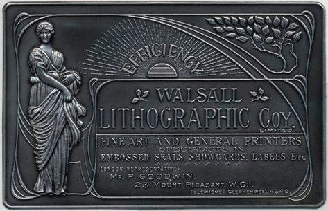 Walsall Lithographic plaque (Walsall Museum)