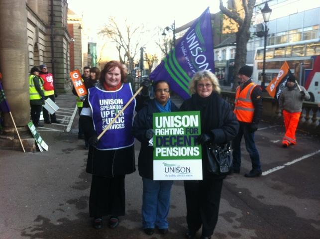Public sector workers strike in Walsall