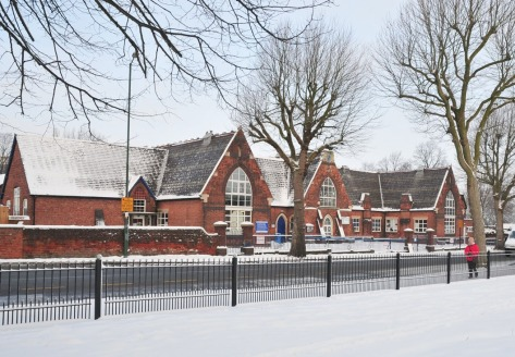 A Christmassy view of 'The National', February 2009