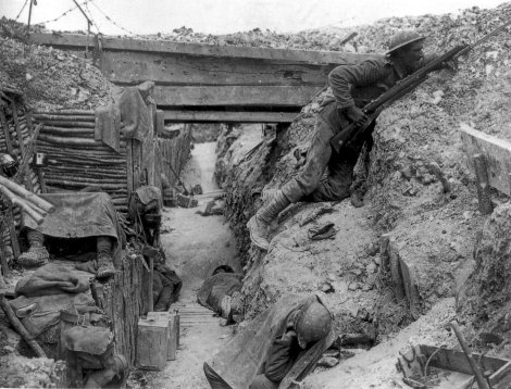 A trench on The Somme, 1916.