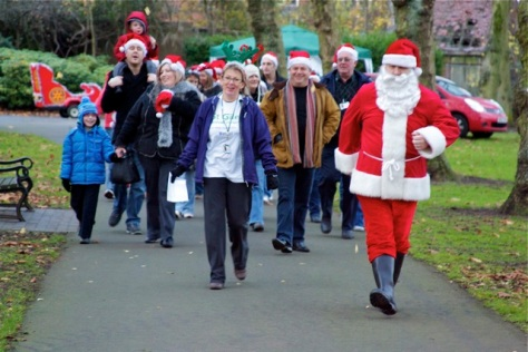 It's best feet forward for St Giles Walsall Hospice in the Santa Stroll