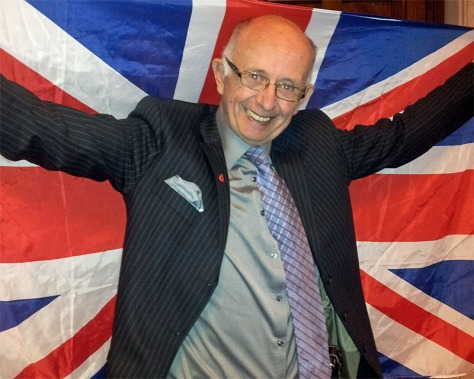 Cllr Anthony Harris flies the flag for the borough.