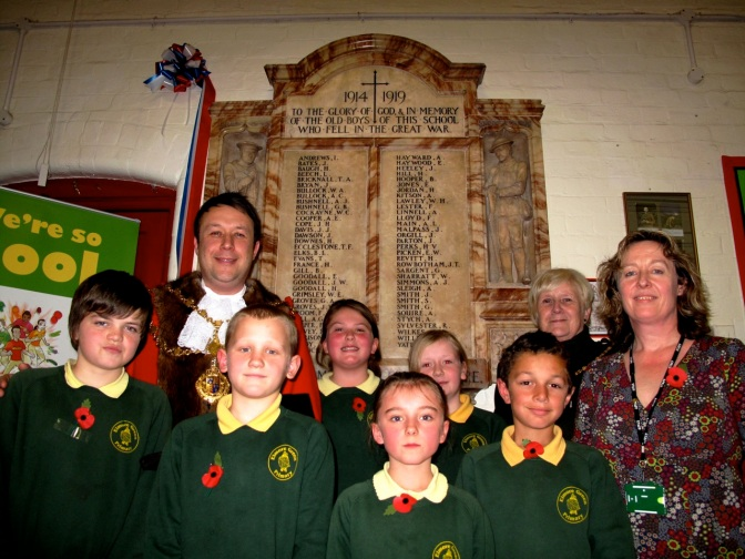 Walsall's Mayor and Mayoress joined pupils, staff and guests to wintness the rededication.