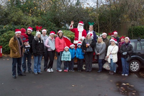 Happy Santa Strollers get into the spirit of Christmas