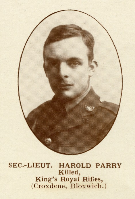 Second Lieutenant Harold Parry, Walsall Pioneer, 19 May 1917.