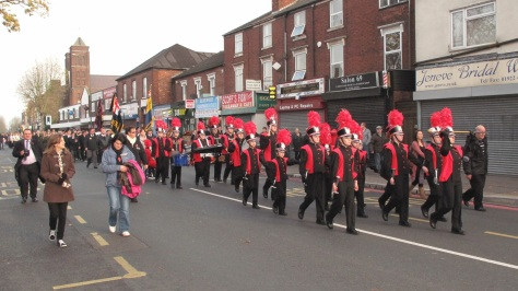 On Parade in Bloxwich (pic Stuart Williams)