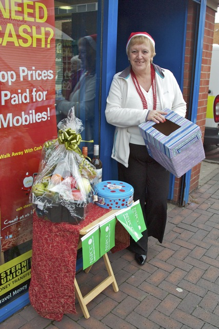 Raising funds for the NSPCC was Diane Turner of Cheque Centre