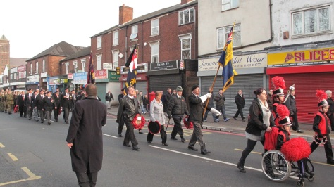 Royal British Legion, Standard Bearers and Veterans.