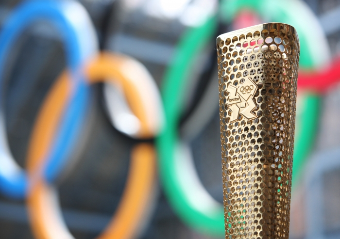 The 2012 Olympic Torch.