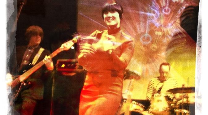 Karla Milton of DC Fontana on stage at Bookmark Theatre