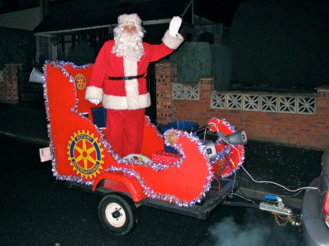 Loud and proud - the Rotary Santa is a great Bloxwich tradition