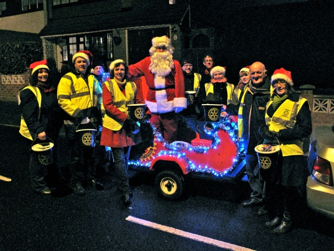 Santa sleighs Bloxwich Rotary's Christmas collection record