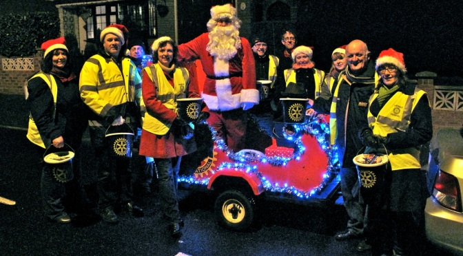 Santa and his little helpers on Lower Farm tonight