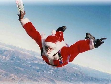 Santa drops in!