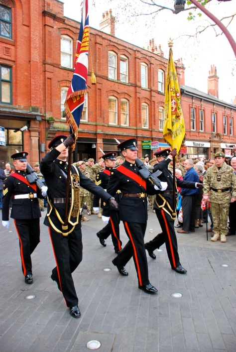 The arrival of The Colours at Walsall Town Hall