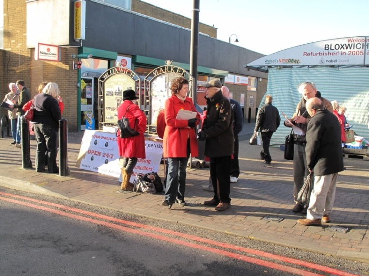 Labour campaigners busy collecting the signatures of angry Bloxwich residents