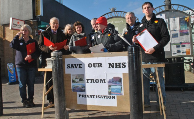 Labour in Bloxwich NHS Petition George Makin