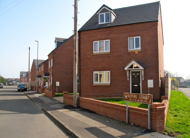 New housing in Revival Street.