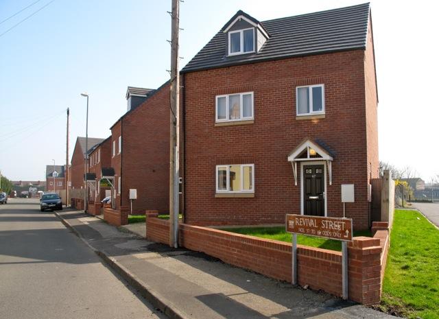 New housing in Revival Street.