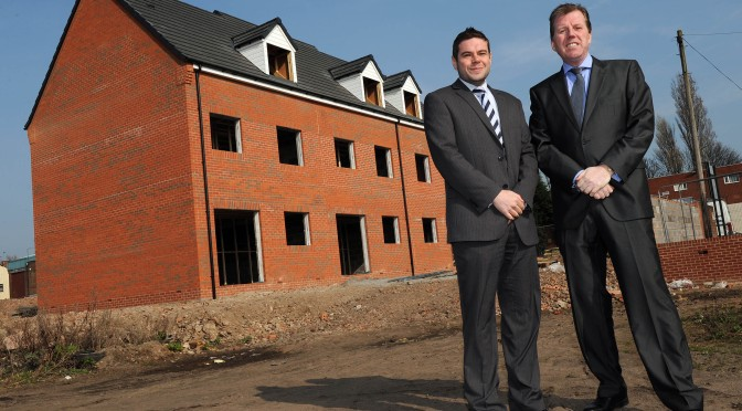 Simon Griffiths and Nick Drury of Upward Developments at the Revival Street site.