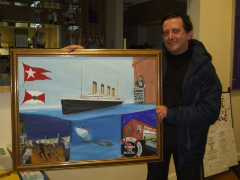 Ian Edwards paints the Titanic