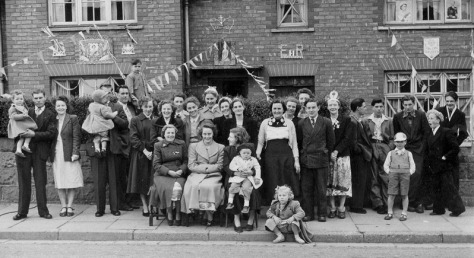 Coronation Party, Abbotts St, Bloxwich, 1953.
