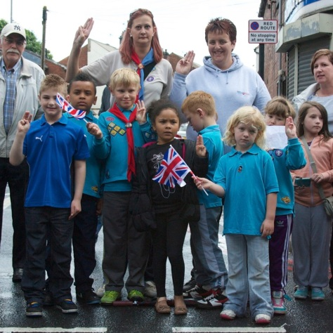 Beavers of the 2nd Bloxwich Scouts are ready to do their best when the Olympic Torch arrives
