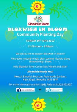Bloxwich Community Planting Day Flyer