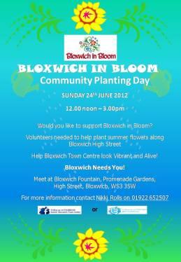 Bloxwich Community Planting Day Flyer