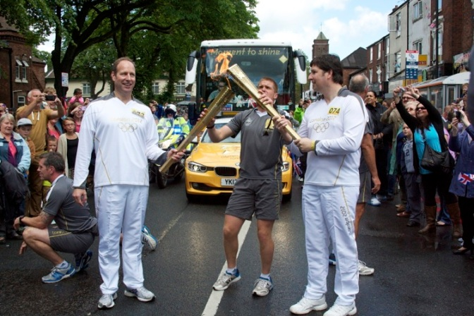 Olympic Torch ignites fun day for Bloxwich!