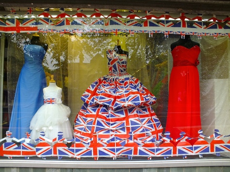 Jeneve Bridal Wear's Diamond Jubilee window