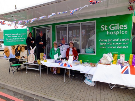 St Giles Walsall Hospice and their mobile cake stall in Park Road