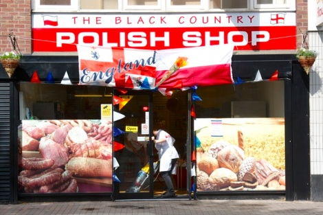 The Black Country Polish Shop sprouted a torch and flags for the day!