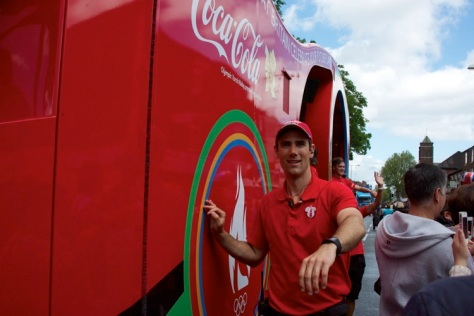 The Coca Cola truck