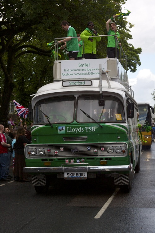 The Lloyds TSB vintage bus