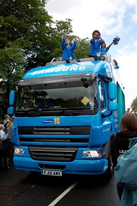 The Samsung truck
