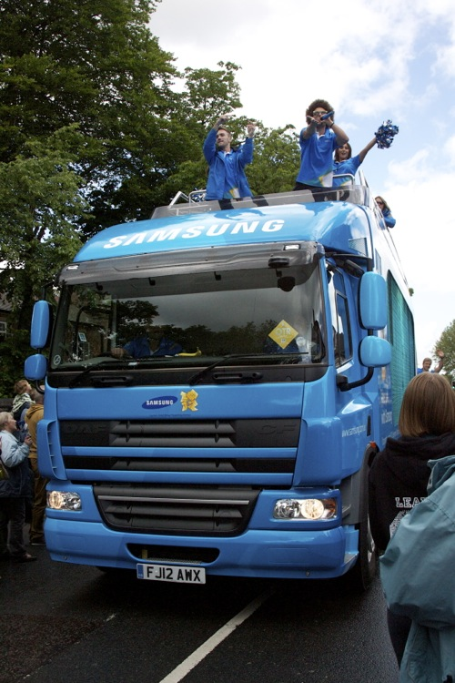 The Samsung truck