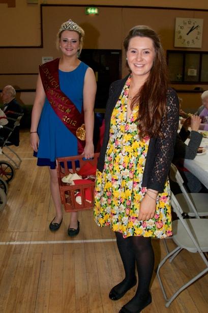 Bloxwich Carnival Queen 2012 Alice Jones (rear) and 2010 Queen Jessica Jones were kept busy serving partygoers